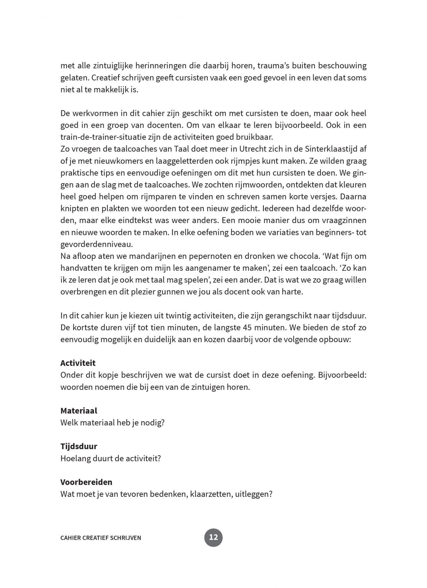 Vaak NT2.nl | NT2-Cahier Creatief schrijven | Annemarie van den Brink @EL29