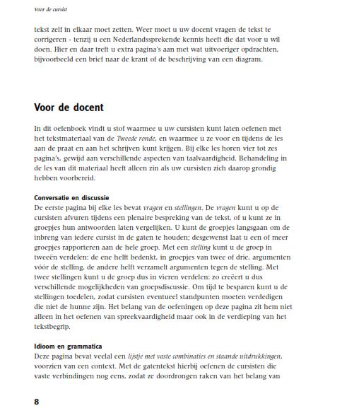 Tweede Ronde Herziene Editie Tekstboek Online